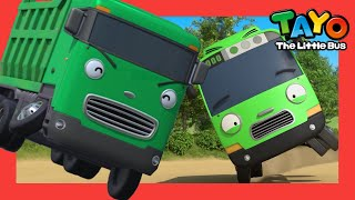 Tayo Lagu anak l Roda-Roda Bus (lirik) Versi Truk Dump Hijau l Wheels on the Bus l Tayo Bus Kecil