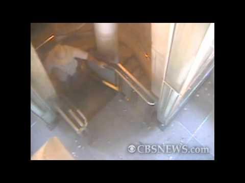 View inside Washington Monument during quake