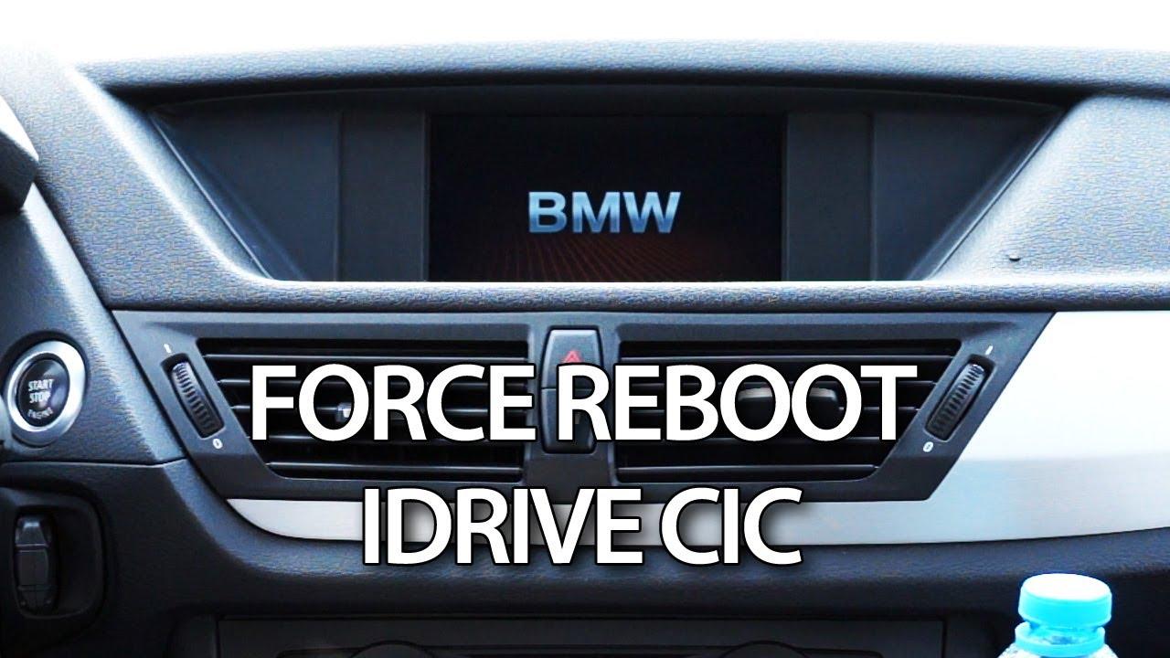 bmw idrive cic force reboot reset e87 e90 e60 x1 x3 x5. Black Bedroom Furniture Sets. Home Design Ideas