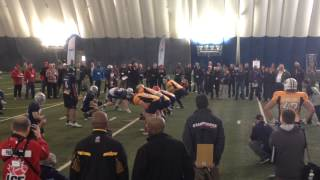 Sukh Chungh at the CFL combine.