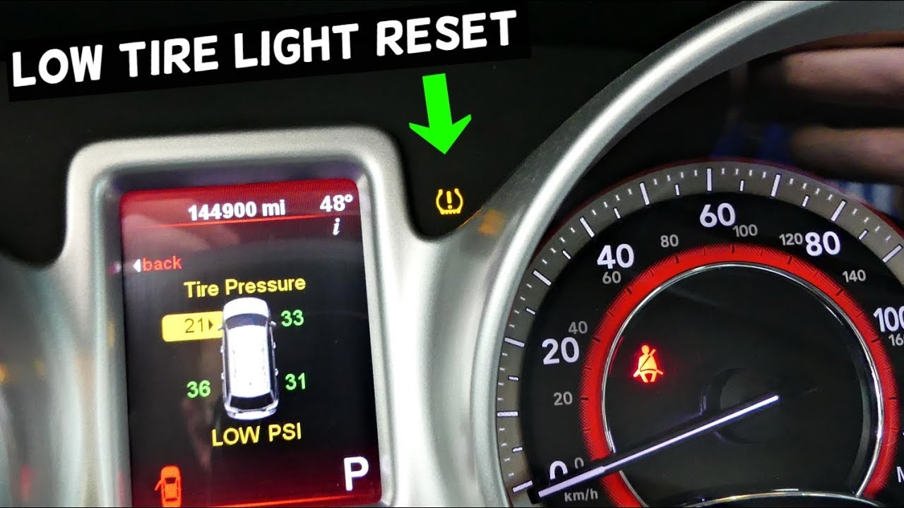 How To Reset Tpms Light On Dodge Journey Low Tire Warning