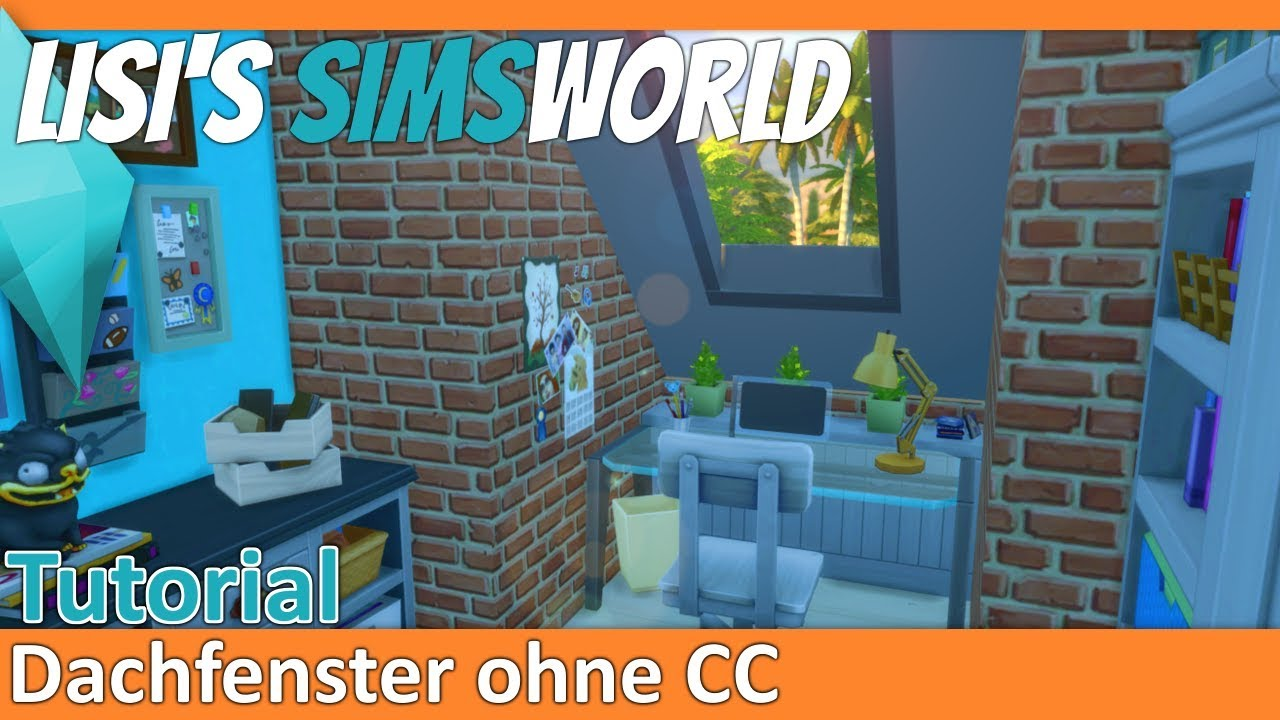 Sims 4   Dachfenster (skylights) Ohne CCs   Tutorial