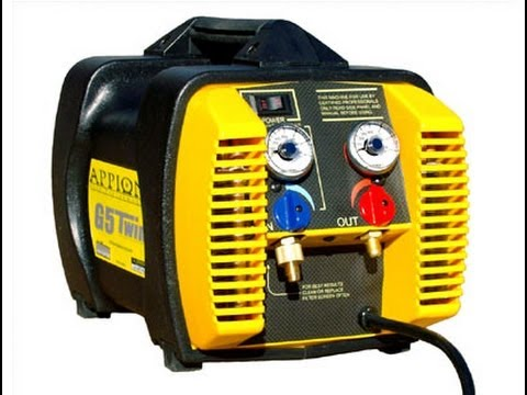 Hvac Service Fast Refrigerant Recovery Appion G5 Twin