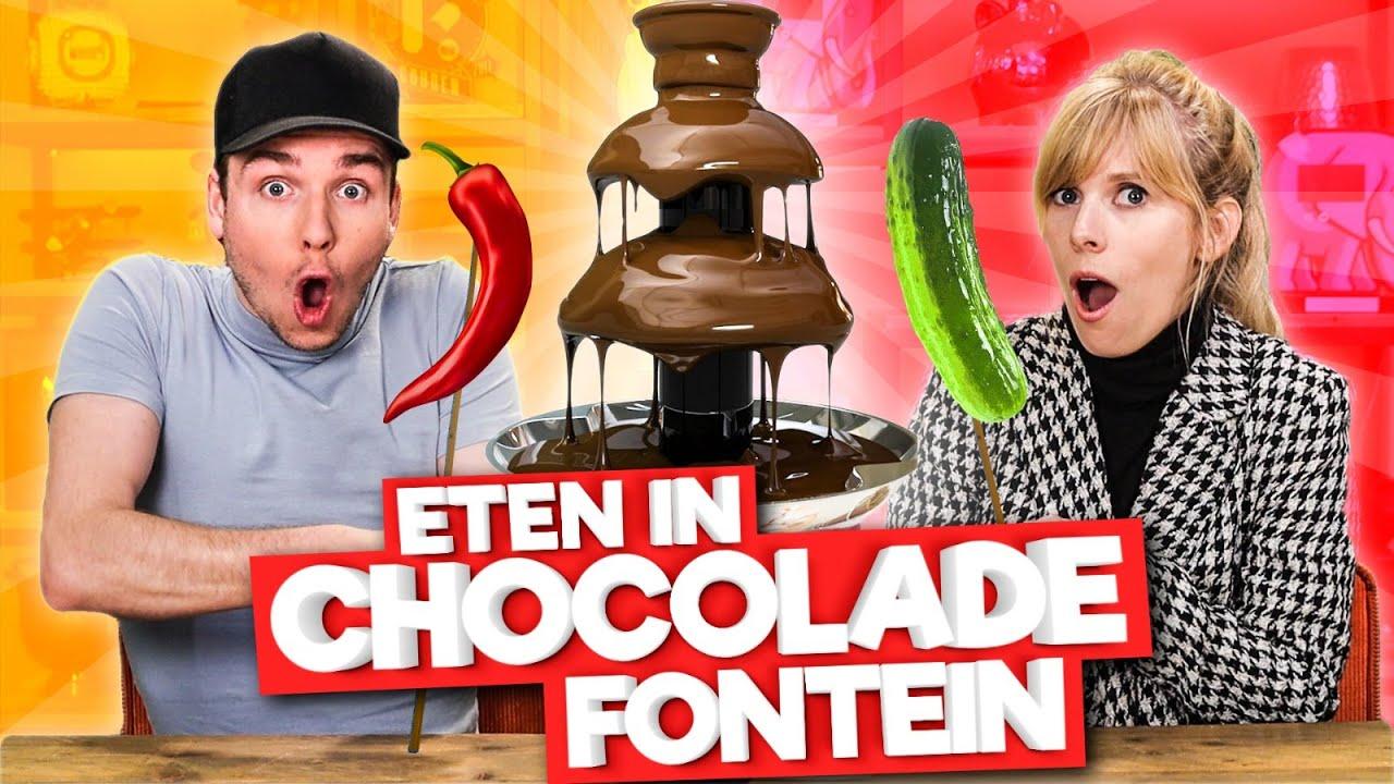ETEN IN CHOCOLADE FONTEIN DIPPEN!
