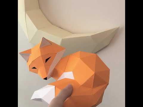 狐狸紙模型