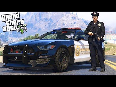 GTA 5|LSPDRF #198|POLICÍA de USA en MUSTANG COBRA*ROBO DE AMBULANCIA*|EdgarFtw