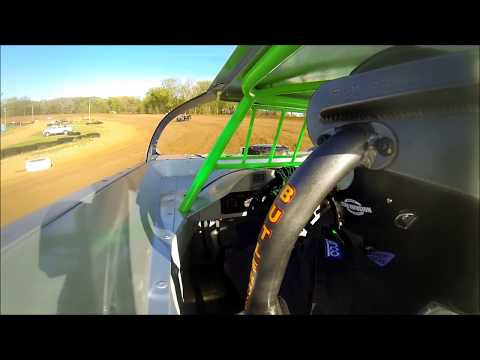 JOSH JACKSON RACING SPOON RIVER SPEEDWAY HOT LAPS IN CAR CAMERA 4 22 17