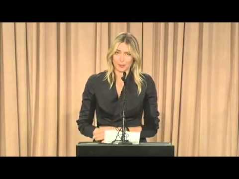 Thumbnail: Fairly ugly carpet joke at Maria Sharapova's major announcement press conference