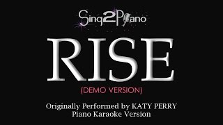 RISE (Piano karaoke demo) Katy Perry