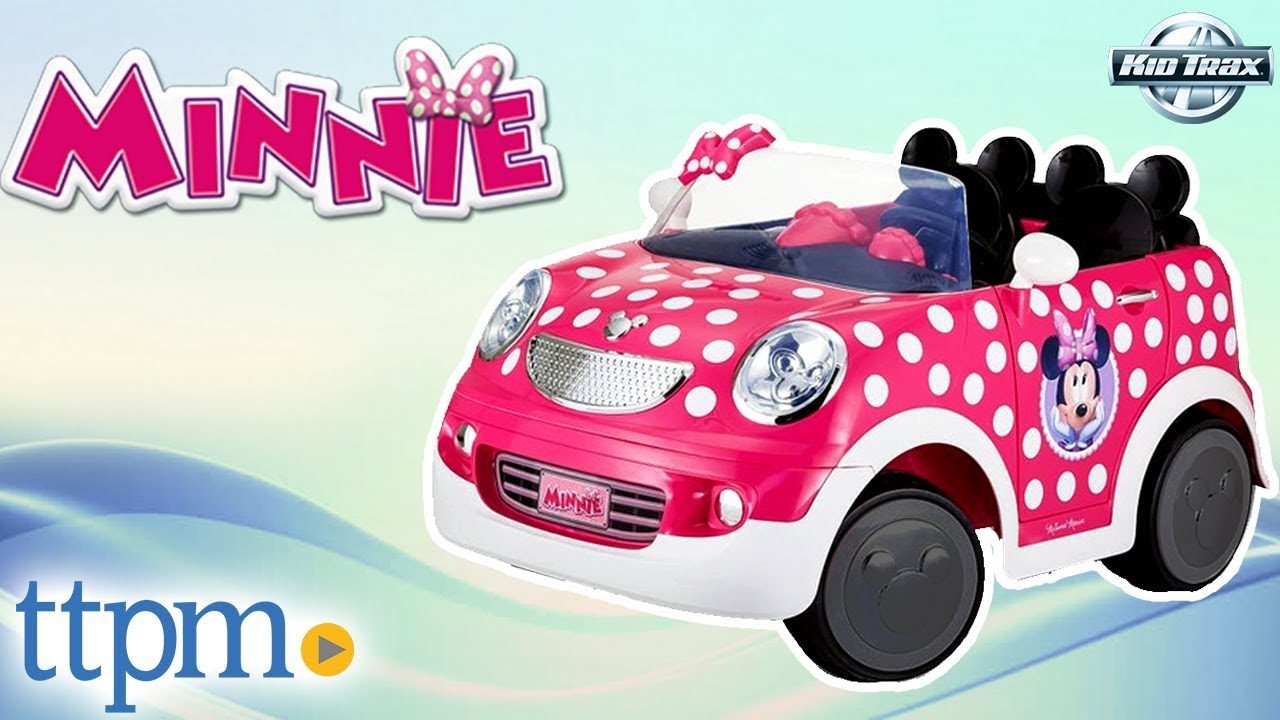 Battery Operated Ride On Toys >> Minnie Mouse Battery Operated Ride-On Car [REVIEW] | KidTrax Toys - YouTube
