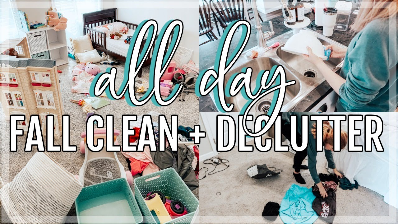 ALL DAY FALL CLEAN AND DECLUTTER WITH ME | FALL CLEANING MOTIVATION | EXTREME CLEAN WITH ME