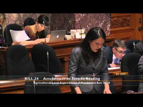 Jenny Kwan response to Bill 24 - Agricultural Land Reserve (ALR)