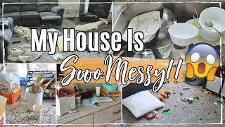 MESSY HOUSE TRANSFORMATION :: COMPLETE DISASTER CLEAN WITH ME 2019 :: ALL DAY CLEANING MOTIVATION