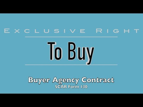 Exclusive Right To Buy Buyer Agency Contract - Form 130