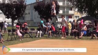 Spectacle de cirque - Club Cirque - Lycée des Chaumes - Édition 2015 à Avallon (89