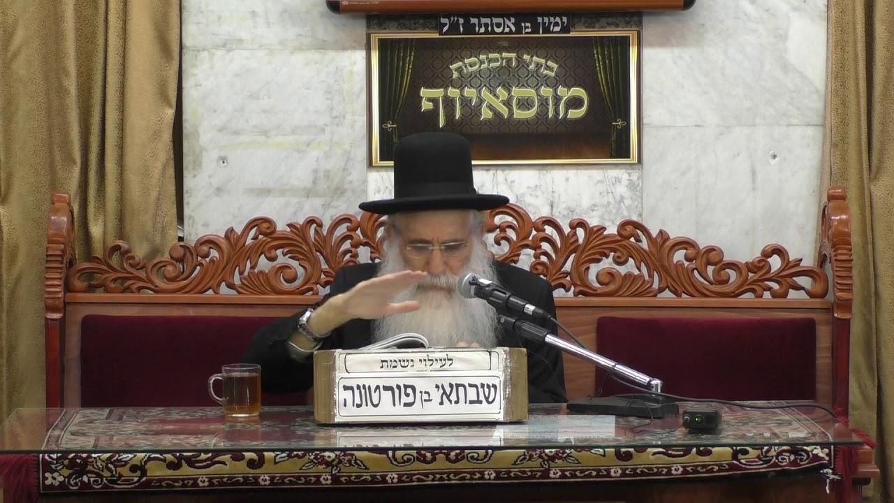 הרב יוסף שטרית המנורה הטהורה