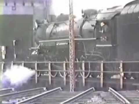 NKP 587 Locomotive at Frankfort Indiana Roundhouse June 1991