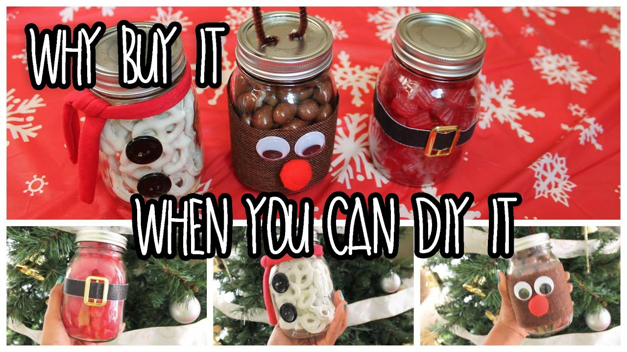 Easy Last Minute Diy Christmas Gifts Using Mason Jars Youtube