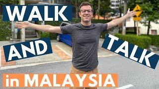 Walk with me around my Malaysian Neighbourhood (my ONLINE TEACHING morning!)