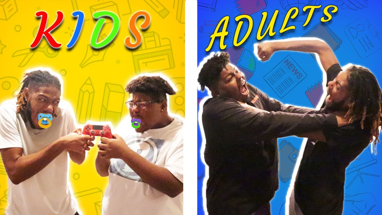 How Siblings Argue As Kids VS How They Argue As Adults