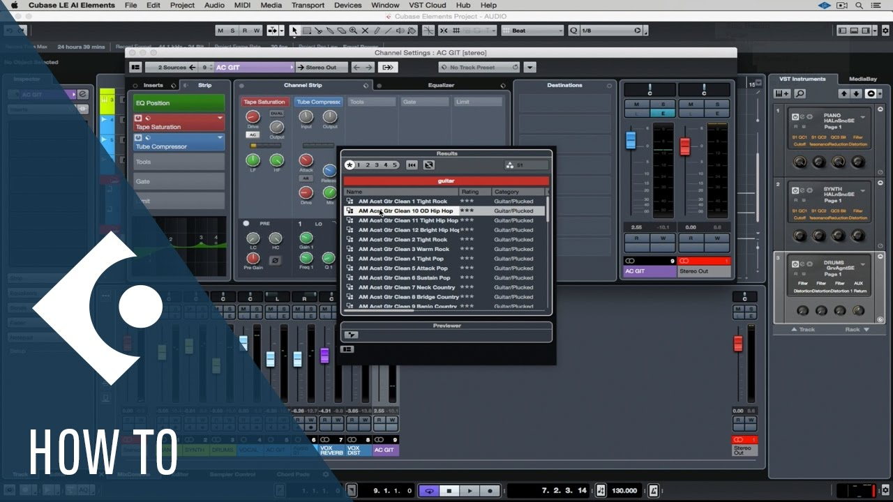 How to Mix in Cubase LE AI Elements | Getting Started with Cubase LE AI Elements 9