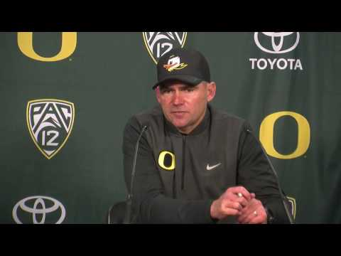 Mark Helfrich answers questions about his future as Oregon's football coach