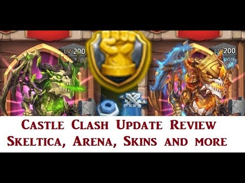 Castle Clash: Anniversary Party Update Review. Skeletica, Arena, Skins And More. Full Details