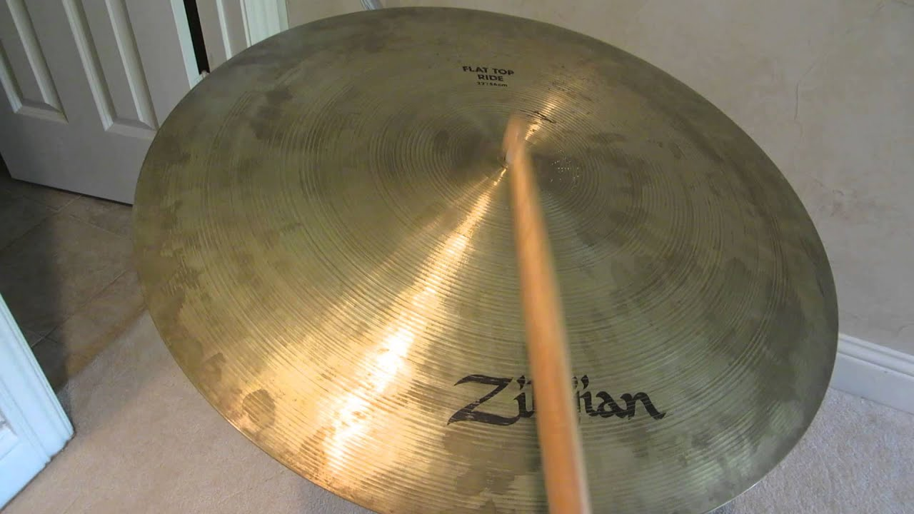 zildjian 22 inch flat top ride cymbal 5b sticks youtube. Black Bedroom Furniture Sets. Home Design Ideas