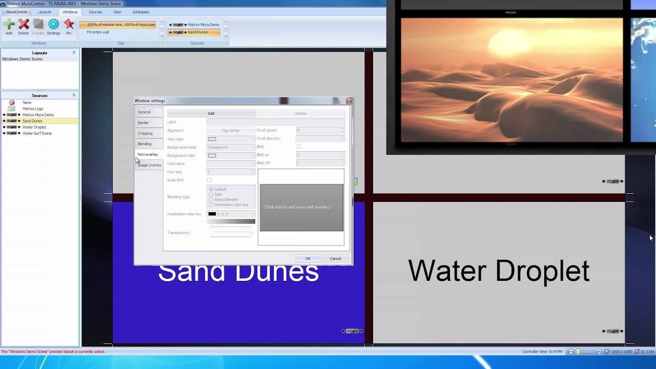 Video Wall Management Software: Matrox MuraControl for Windows