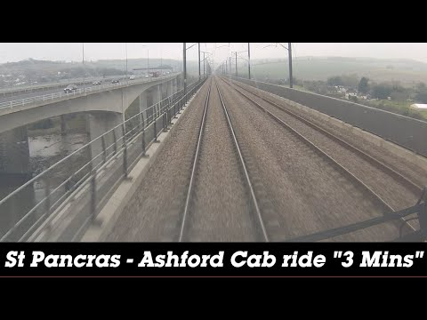 St Pancras to Ashford  in 3 minutes. (Cab Ride)