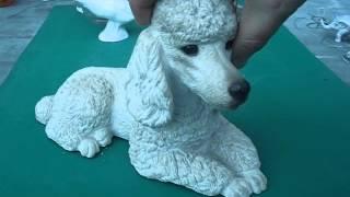 Sandicast Sandra Brue Large Stone Poodle Sculpture Ornament