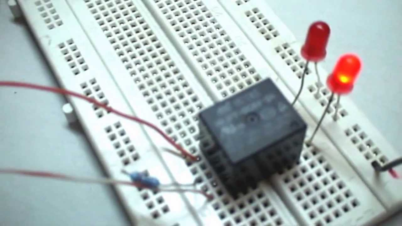 110v 220v Switch Wiring Diagram How To Make A Simple Relay Circuit Youtube