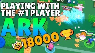 Brawl Ball with the #1 player in the WORLD! Brawl Stars with Ark