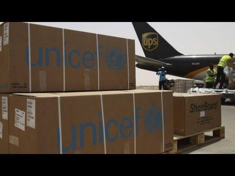 UNICEF-UPS collaboration delivers aid to Mauritania