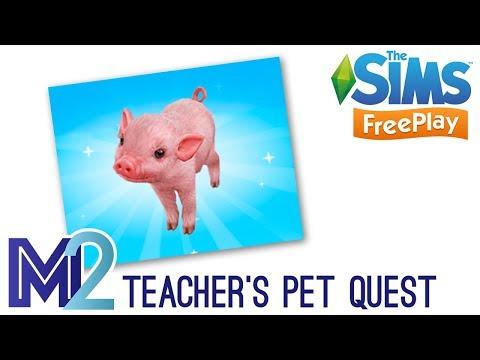 Sims FreePlay - Teacher's Pet Quest (Tutorial & Walkthrough)