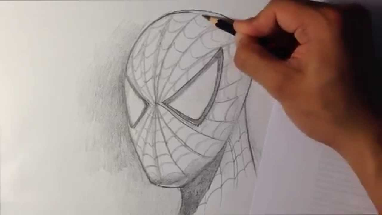 How To Draw Spider Man In Fine Art Style