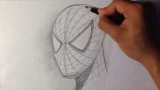 How to Draw Spider-man in Fine Art Style - Easy Drawings