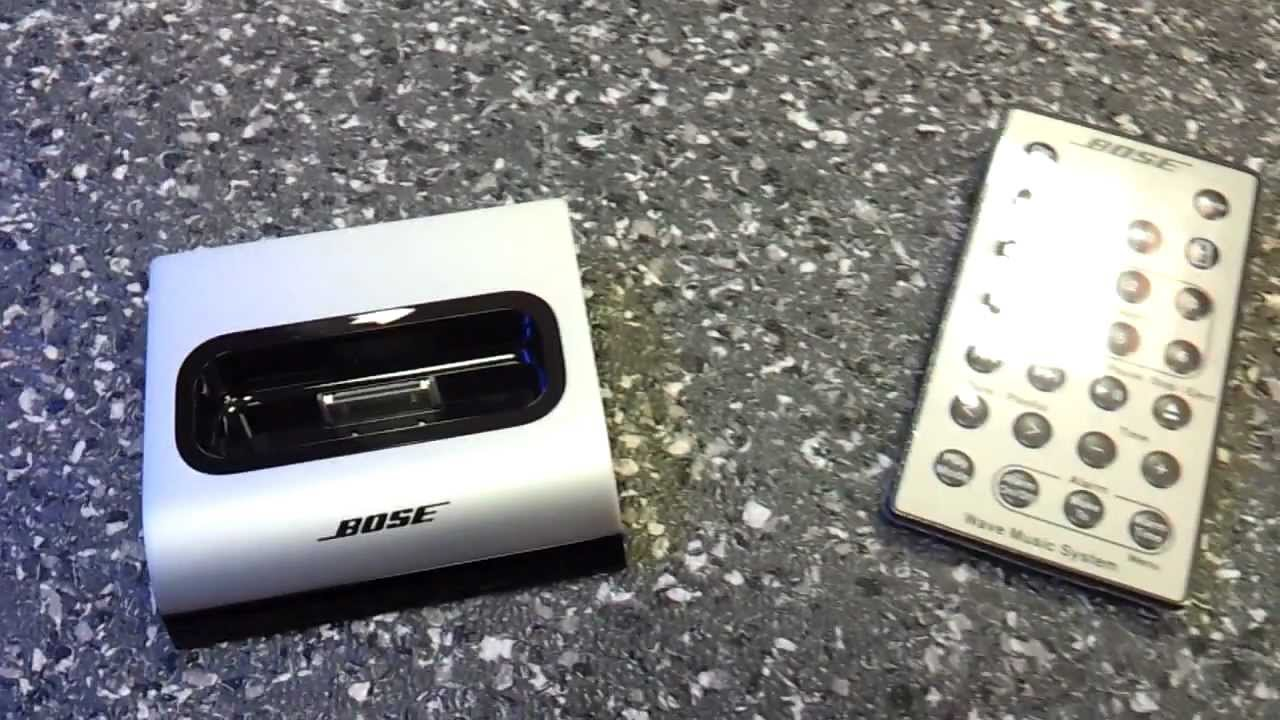 Bose wave connect kit docking station for apple ipod with manual.