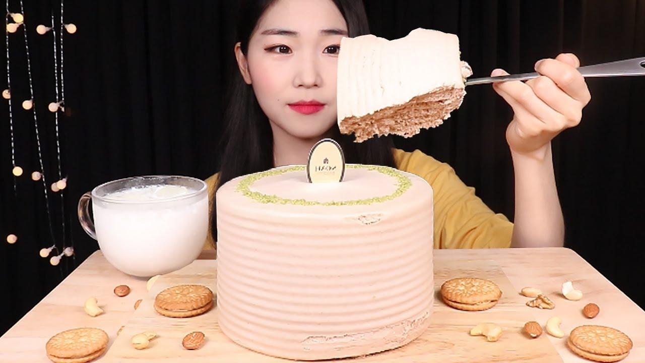 퐁실퐁실👍얼그레이 케이크 한판 먹방😋 케이크 리얼사운드 Earl Grey Cake MUKBANG ASMR | DESSERT EATING SOUNDS
