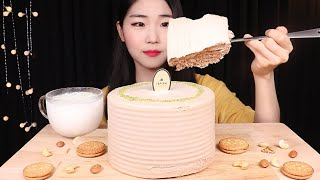 퐁실퐁실얼그레이 케이크 한판 먹방 케이크 리얼사운드 E…