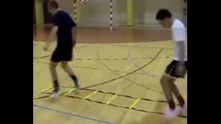 Упражнения на координацию с лестницей, футбол, футзал