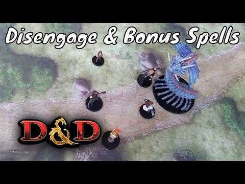 D&D (5e): Disengage & Bonus Action Spell on the same turn.