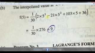 Lagrange interpolation Modeling in Matlab::Hari