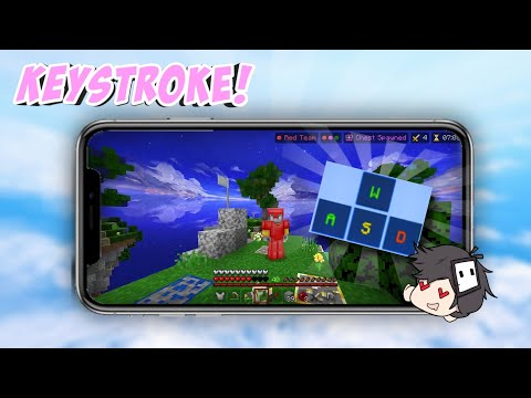 KEYSTROKES on MOBILE??!!!(Best client on MCPE/Mobile)