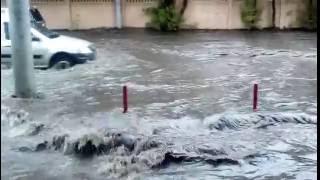 Подтопление на улице Буракова 15.08.16 Москва-потоп