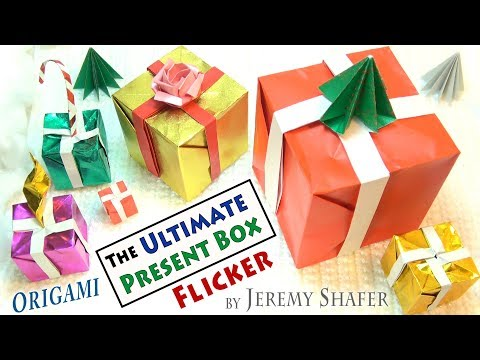 Ultimate Origami Present Box Flicker - 4 models in one!