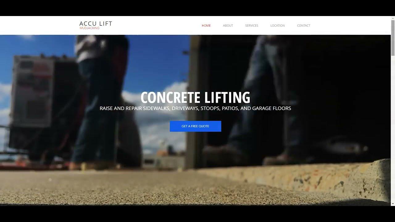 Mudjacking and Concrete Lifting Web Design Project | 10com Web Development