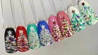 Дизайн ногтей: 4 Варианта экспресс-дизайна новогодняя елочка