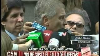 C5N - POLITICA: APERTURA DEL AÑO LEGISLATIVO 2015. HABLA OSCAR AGUAD