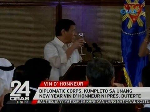 24 Oras: Diplomatic corps, kumpleto sa unang New Year Vin D' Honneur ni Pres. Duterte